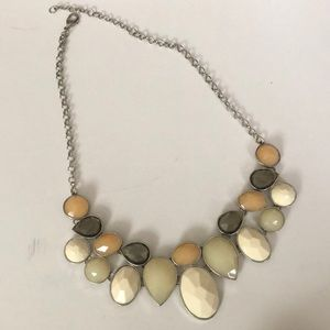 Neutral Colored Costume Stone Necklace